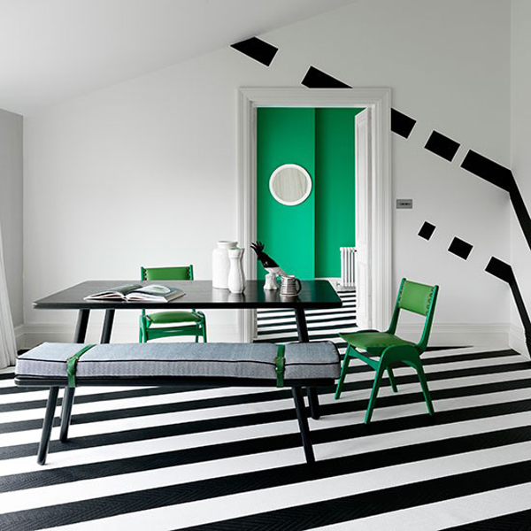 Stripes To Elongate The Space Home Decor
