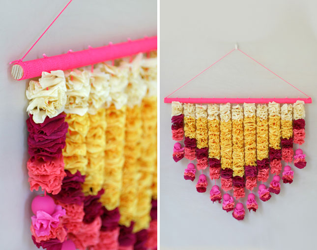 Crepe paper garlands & Amazing Diwali Decoration Ideas For Home - Lokaa Blog