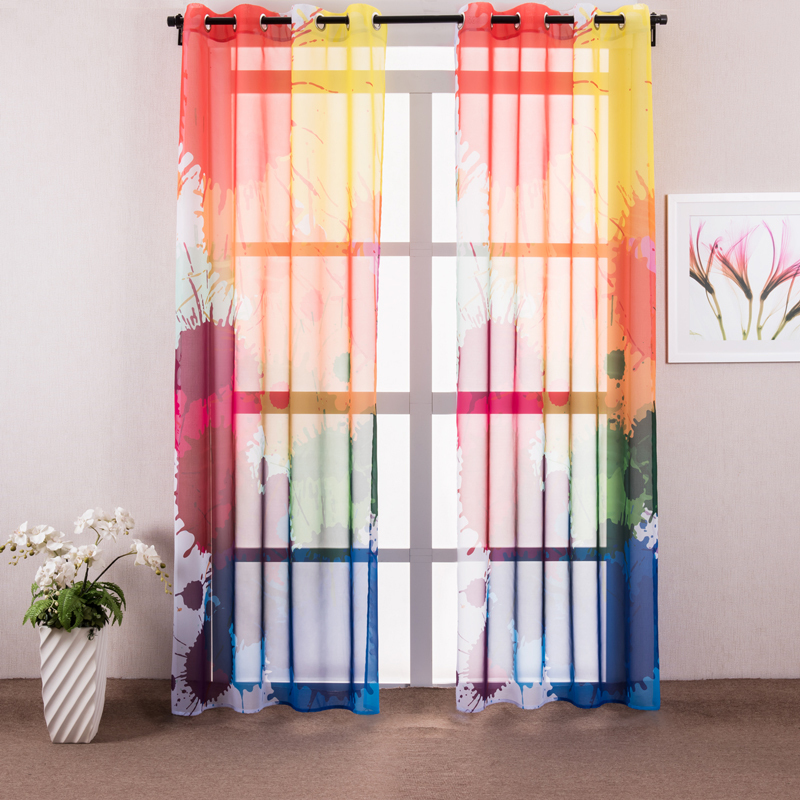 Dress up windows with bright and light hues